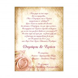 Τριαντάφυλλο ροζ (Π 22)